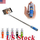 Mini Handheld Wired Remote Selfie Stick Monopod Extendable For IPhone...