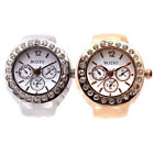 Quartz Rhinestone Men Women Diamond Ring Watch Fashion finger Jewelry Wristwatch