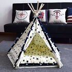 Pet Teepee Kennel Tent Cat Dog House Bed Puppy Kitten Sweet Playing Nest Gift US