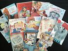 BB92 -- Lot of 12 Vintage Father's Day Greeting Card  DIE CUTS for CARD MAKING