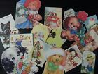 BB44 Lot of 14 Adorable GREETING CARD with DOGS DIE CUTS for crafts making