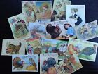 BB06C  Lot of 15 Adorable VINTAGE THANKSGIVING GREETING DIE CUTS 4 crafts making