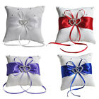Внешний вид - 1pc Romantic Double Heart Wedding Pocket Ring Bearer Pillow Cushion Party Decor