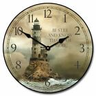 Lighthouse 2 Non ticking Whisper Quiet Wall Clock Perfect Round Home Wall Decor
