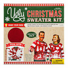 Men's (Women: Size Down) Ugly Christmas Sweater Kit - Cayenne Red M