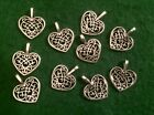 Heart with Filigree detail Charms Antique Tibetan Silver Jewellery Pendant charm