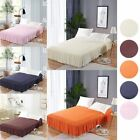Bed Skirts Polyester Solid Elastic Mattress Sheet Cover Home Hotel Decoration image