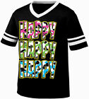 Happy Happy Happy Camo Colors Redneck Hunting  Retro Ringer T-shirt