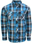 Long Sleeve, Button Down Shirt For Men- Casual, Plaid in Size Small to 3XL