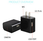 Night Vision Hidden SPY Cam Wall Charger WiFi Remote Recorder Motion Camera