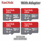 SanDisk Ultra 16GB 32GB 64GB 128GB A1 Micro SD SDHC Card W/ Adapter 100MB/s C10