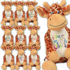 Large Giraffe Personalised Soft Plush Giraffe Teddy Embroidered & your Name