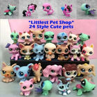 24pcs/Lot Littlest Pet Shop Lot Animal Hasbro LPS Figure Toy Dog Lion Cat X