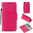 Rose Retro Light oil wallet Leather case Cover with strap for iphone Samsung LG