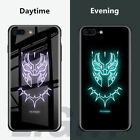 Batman Superman Noctilucous Luminous Tempered Glass Case For iPhone XS Max/7/6s