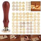 Внешний вид - DIY Vintage Envelope Wedding Invitations Greetings Sealing Wax Stamp Wood Handle