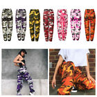 Military Army Combat Camouflage Women Camo Cargo Trousers Colorful Casual Pants