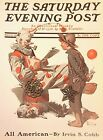 VTG Norman Rockwell Art Print Saturday Evening Post SHOW BUSINESS * SEE VARIETY