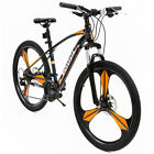 "26"" Steel Frame Full Wheel Mountain Bike  21 Speed Front Suspension Disc Brakes"