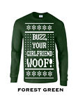 531 Buzz your girlfriend Woof Long Sleeve new ugly christmas sweater alone movie