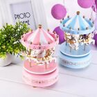 Wooden Merry-Go-Round Carousel Music Box Kids Toys Gift Wind-Up Musical Box Kt