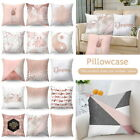 Rose Gold Cushion Cover Geometric Dreamlike Pillow Case Throw Home Decor Xmas 1x