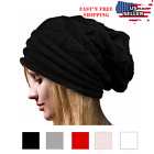 Внешний вид - Women Fashion Cable Knit Wool Winter Warm Hat Soft Slouchy Beanie Skully Cap