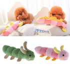 Cute Caterpillar Dog Plush and Squeaker Toy for Big Medium Small Dogs Chewing