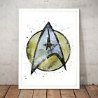 Star Trek Starfleet Symbol Logo Unique Art Poster Print - A4 A3 A2 A1 A0 Framed on eBay