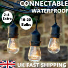 2x 11m/20m Outdoor Connectable Garden Festoon Bulb String Lights Christmas Party