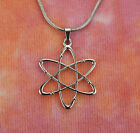 Atomic Whirl Necklace, Bohr Atom Nuclear American Atheist Symbol Charm Pendant