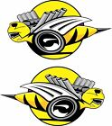 Dodge Rumble Bee Sticker, Choose Yellow, Orange or Purple Decals Right & Left