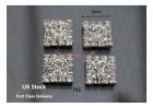 10/50 LUXURY CRYSTAL SQUARE WEDDING EMBELLISHMENT BUTTON TOPPER P15 WEDDING CARD
