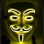 Clubbing Light Up V For Vendetta LED Guy Fawkes Mask Costume Rave Cosplay Party