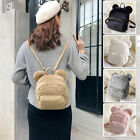 Women's Faux Fur Small Mini Ears Backpack Rucksack Daypack Travel Bag Purse Cute