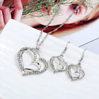 New Fashion Heart Titanium Jewelry Sets For Women Pendant Necklace Earring Sets