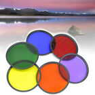 37mm  82mm Full Color Filter For Camera Len Green Orange Red Purple Yellow Blue