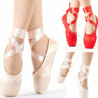 Kyпить Red /Pink Ballet Dance Toe shoes Professional Ladies Satin Pointe Shoes Silk на еВаy.соm