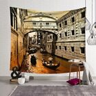 New Art World Building Print Tapestry Wall Hanging Decorative Home Bedspread