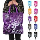 Reusable Foldable Shopping Bag Butterfly Flower Fabric Shoulder Bag Eco-friendly