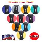 1-10KG Weighted Fitness Medicine Rubber Ball for Gym Muscle Training Exercise US image