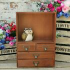 Jewellery Box Chest Tabletop Cosmetic Mirror Cabinet Vintage Storage Free Stand