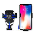 10w Fast Qi Wireless Car Charger Mount Holder GPS For iPhone 8 XR Samsung S8 S9+