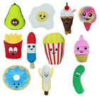 Small Food Junkeez Plush Dog Toys Soft Squeakers Funny Snacks Choose Character