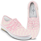 NIB Bradford Exchange Women's Lace with Hope Pink Ribbon Sneakers Sizes 6-10