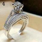 925 Silver White Sapphire Ring Fashion Women Wedding Engagement Jewelry Size6-10