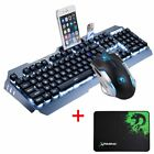 Keyboard Mouse Gaming Set Wired LED USB 2000DPI Optical Gamer Sets Mouse Pad
