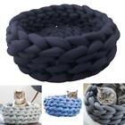 Cute Washable Material DIY Pet Nest Hand Woven Dog Cat Bed House GDY7