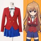 Anime Toradora Gal Uniform Cosplay Costume NEW Whole Set Jacket+Tie+Skirt+Shirt