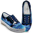 NIB Bradford Exchange Women's Dophin Protect Our Ocean Lace Up Shoes Sizes 5-10